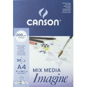 CANSON BLOK MIX MEDIA IMAGINE A4 200G 50 ARK