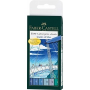 Faber-Castell Pitt Artist Pens SHADES OF BLUE SET - 6 kol.
