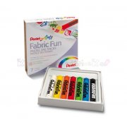 PENTEL FABRIC FUN - pastele do tkanin 7 kol.
